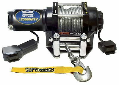 Superwinch 1130220 LT3000ATV 12 VDC winch 3000lbs/1360kg with roller fairlead...