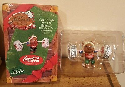 Enesco Treasury 1993 Can't Weight For The Holidays Diet Coke Ornament IOB
