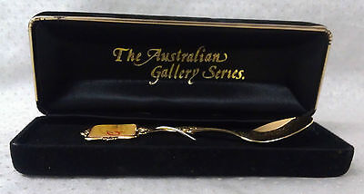 Boxed spoon EXPO 88 W.A says G'day Australian Gallery Series gold tone SONIC