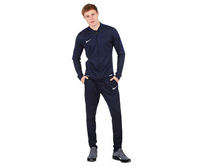 Nike Men's Academy 16 Knit Tracksuit - Obsidian/Deep Royal/White