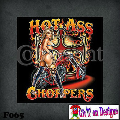 """HOT ASS CHOPPERS""  T Shirts & HOODIES  S - 5XL  ""FREE POSTAGE"""
