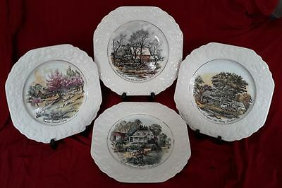 Set of Four All Seasons Collector Plates Lord Nelson England Base Stamped