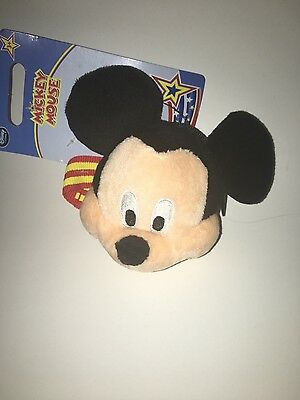 New Disney Store Mickey Mouse Plush Wrist Coin Purse Bracelet Kids Wristlet
