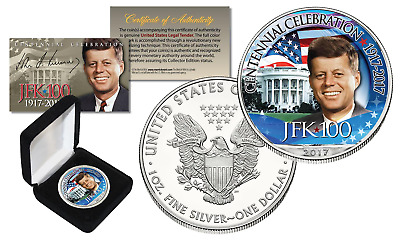 Kennnedy JFK 100 Birthday Celebration 2017 1 oz .999 AMERICAN SILVER EAGLE w/BOX