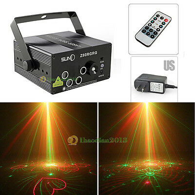 SUNY 5 Lens 80 Patterns RG Projector Stage Laser Lighting Party DJ Disco Light