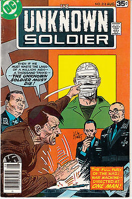 Unknown Soldier #218 (Aug 1978, DC) Hitler Cover