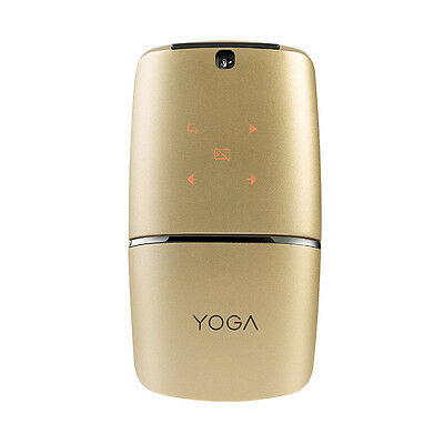Lenovo Yoga Mouse/Presenter Gold Edition -Rechargeable, USB Wireless & Bluetooth