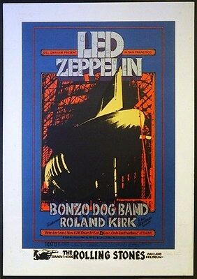 BG 199 Led Zeppelin Winterland Randy Tuten SIGNED Silkscreen