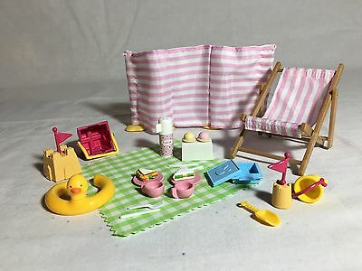 Calico critters/sylvanian families Beach Picnic Set