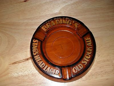 Vintage Brading's Stag Head Lager Ash Tray