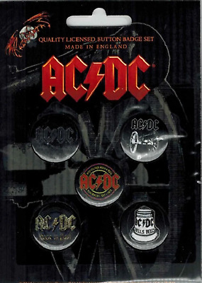 ACDC - AC/DC 5 x 2.5cm Button Set - For Those About To Rock