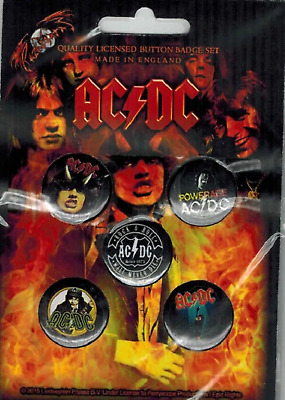 AC/DC - ACDC 5 x 2.5cm Button Set - Highway To Hell