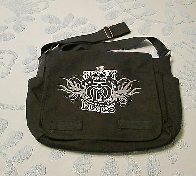 THE MOODY BLUES Canvas Messenger Bag Carry on Good size Mint unused
