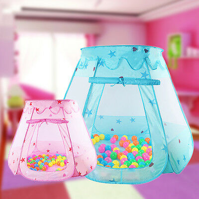 Baby Kids Toddler Fairy Play Tent Ball Pit Indoor Fun Playhouse Play Tent