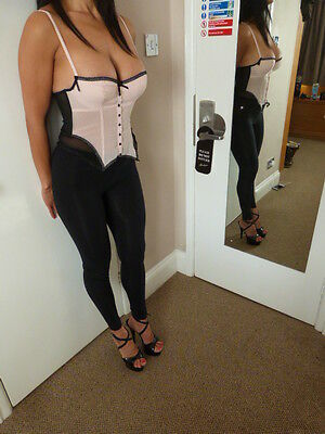 Ann Summers ladies boned size 34b basque corset top, vgc, cost £45.