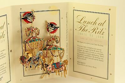 Vtg Costume Jewelry Lunch at the Ritz Rare Turn of the Century Carousel Earrings