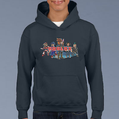 Roblox Kids Hoodie, Youth Gamer Pullover Size 6-12 Computer Game Sweat Shirt