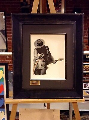 STEVIE RAY VAUGHAN Artist Original Gallery Matted and Framed Artist Signed