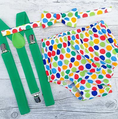 Diddly Dot Boys 3pc Cake Smash Outfit / Birthday Outfit / Photo Prop