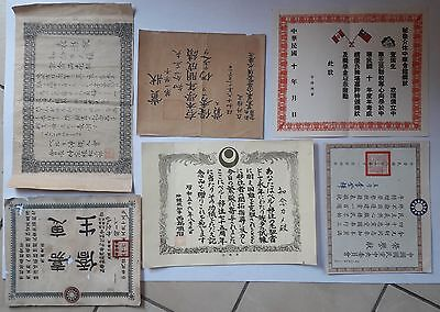 CHINA 6 different vintage Kuoming Tang related documents, chinese colony in Peru