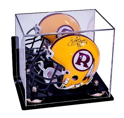 Mirror Back Gold Corner Riser Base Uv Sports Mem, Cards & Fan Shop Display Cases La Rams Football Helmet Case