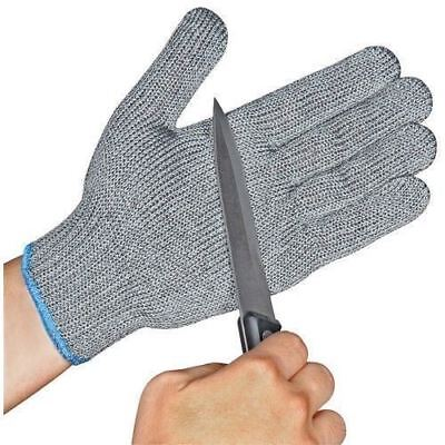 1 pair Safety Cut Proof Anti Cut Resistant Kitchen Butcher Gloves Class 5 M L