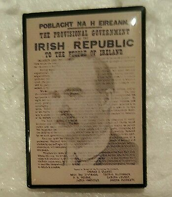 James connolly irish proclamation pin badge 1916 easter Rising republican ira