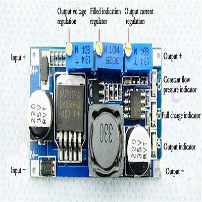 1pc DC-DC LM2596 Step-down Adjustable Power Supply Module CC-CV LED Driver New U