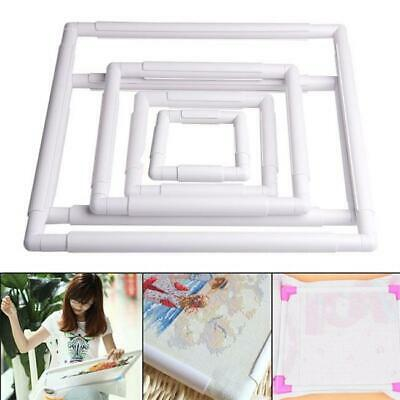 Square Rectangle Clip Plastic Embroidery Frames Cross Stitch Hoop Stand Lap Tool