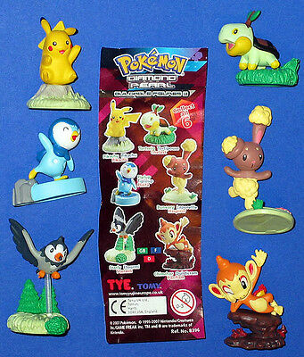Pokemon == 6 Figuren Tomy Satz kl ! Action Figuren