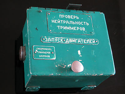 Soviet Russian Aircraft Tupolev Tu-134 Engine Start Block