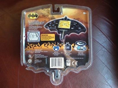 RARE NIP Batman Begins LCD Video Handheld Game Fear The Bat Techno Source 2005