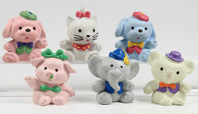 Hello Kitty / lovely animals === 6 x Figuren Bully Bullyland