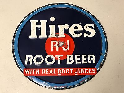 Vintage Hires Root Beer Embossed Sign
