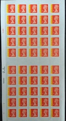 50 x 1st Class Signed For Postage Stamps Mint Genuine Self Adhesive 18% Discount