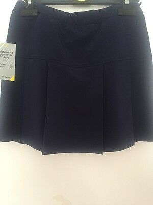 BOGOF LIMITED TIME Girls School Sports Skorts BLACK Age 13/14