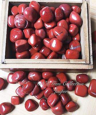 Tumbled Natural Gemstone Crystal Red Jasper Chipstones 5g