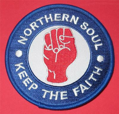 Northern Soul Patch - Keep The Faith - Blue - Red Fist