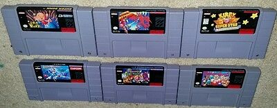 Super Nintendo Snes Lot Bonk Metroid Kirby Super Star Mega Man X Bomberman 2
