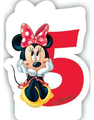 Minnie Mouse Number 5 Shaped Birthday Cake Candle