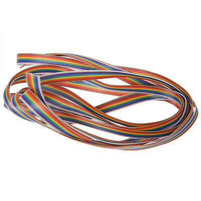 10ft 8 Pin Flexible Flat IDC Ribbon Cable 1.27mm Pitch P9M7