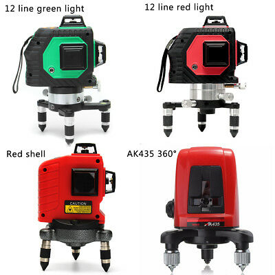 12/2Line 360° 3D Laser Self Leveling Vertical & Horizontal Level Cross Red/Green