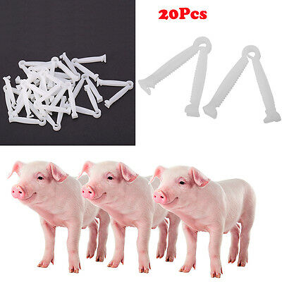 20X/Set Disposable Umbilical Cord Clamps Puppy Animal Birth Whelping Clamp Tool