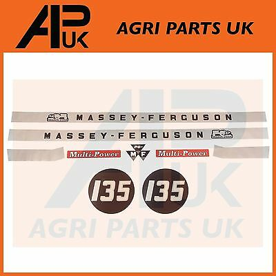 Massey Ferguson 135 Tractor Hood Bonnet Decal Sticker Set 9 pcs MF135