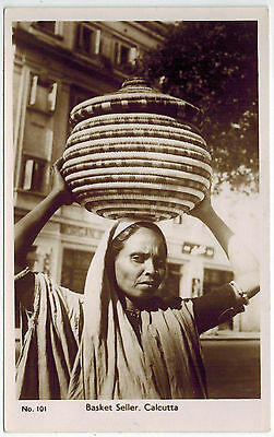 PhC, Basket Seller from Calcutta, India, 1950s