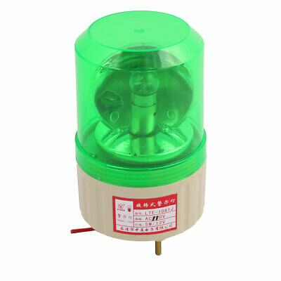 AC 110V Buzzer Sound Rotating Industrial Signal Warning Lamp Green