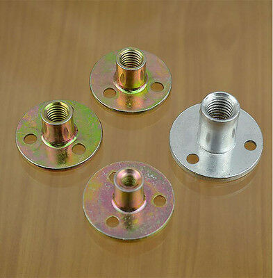 Metal Threaded hole flange coupling Shaft shaft support Fixed seat 6/8/10/12mm