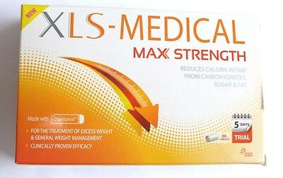 XLS Medical Max Strength 20 Tablets (Dated 03/2019) Diet Weight Loss Slimming