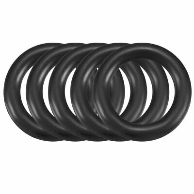 uxcell/® 100Pcs 6.5mm x 1.9mm Black Flexible Nitrile Rubber O Ring Oil Seal Washer Grommets
