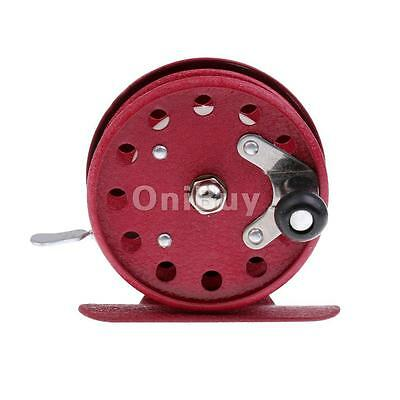 806 Fly Fishing Reel Ice Fly Fishing Wheel Fishing Vessels 5.5CM Red